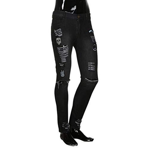 Pantaloni Sfilacciati lannister Slim Biker Jeans Denim Uomo Qk Ragazzo Distrutti 2018 Zipper Skinny Nero Strappati RnxvxHq