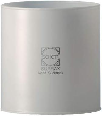 SCHOTT-SUPRAX Original – Fabricado en Alemania – Cristal de repuesto 80 mm x 80 mm para lámparas de gas Campingaz Rhapsody, Thermogas, Kemper y muchos ...