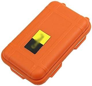 Tykusm extérieur étanche Portable hermétique de survie Coque Boîte de rangement (Orange)