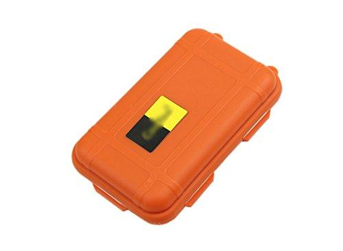 FlowerKui ext/érieur /étanche Portable Herm/étique de Survie /étui de Rangement Box-Orange