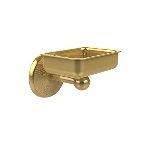 Allied Brass Polished Soap Dish - Allied Brass MC-32-PB Solid Brass Decorative Soap Dish, Polished Brass