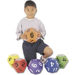 12 Sided Numbered Dice (Set of 6)