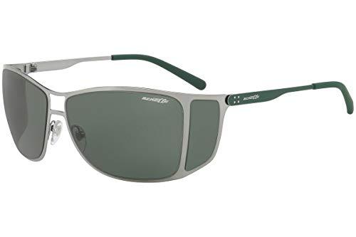 Arnette Sunglasses Pwned AN3072-502/71 Brushed Gunmetal Grey w/Green ()