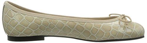 French Sole Henrietta Crocodile Effect - Bailarinas Mujer Beige