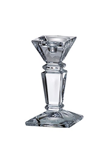 Barski - Beautiful Crystaline - Candlestick - Specially Designed To Hold a Taper or Votive or Pillar - 8
