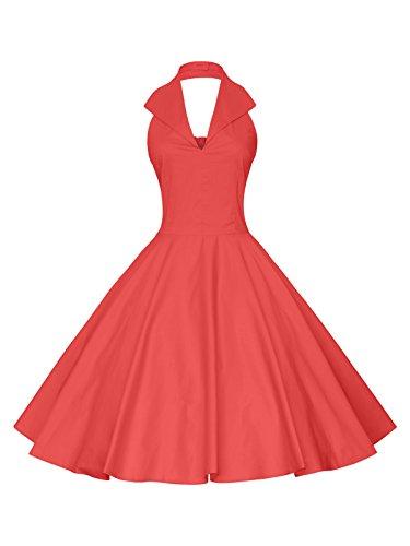 halter neck 50s dress - 5