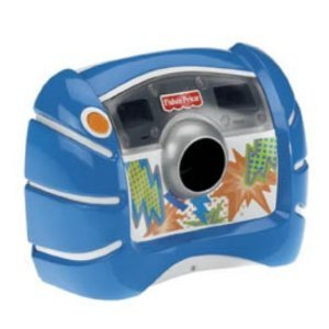 Fisher-Price Kid-Tough Digital Camera Blue + Bonus: 8 Starter Batteries