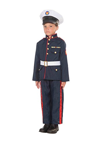 [Forum Novelties Formal Marine Child's Costume, Medium] (Child Army Soldier Costumes)