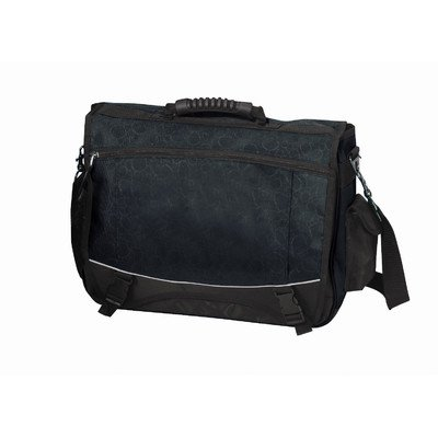 Preferred Nation The Monsoon Flap-Over Compucase Messenger Bag, Black