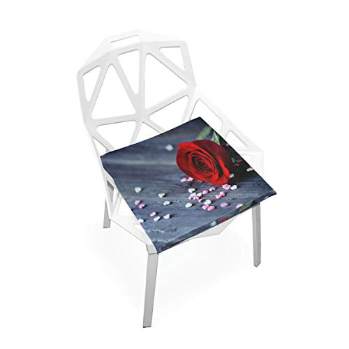 Pingshoes Seat Cushion Rose Heart Wallpaper Chair Cushion Offices Butt Chair Pads Square Car Mat for Student