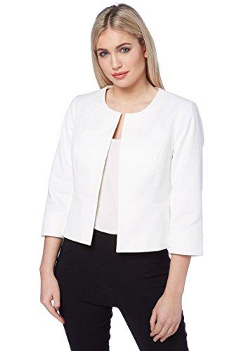 pour Business Ivoire Bureau Confort Crmonie Ajust Ete Mariage Printemps Blanc Blazer de Roman Originals Veste Femme Simple SwHUHPF
