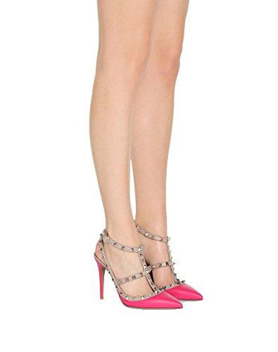 Pointu Strap Sandales Formelle Pan UE Talon Chaussures Stiletto Robe Mode Peach Bout Cour Parti Caitlin 45 Sangles 35 Cloutées Goujons Nude Cheville Femmes Matte Haute 6SnY6PxqC