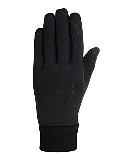 (Seirus Innovation Soundtouch Powerstretch Gloves, Black, Large/X-Large)