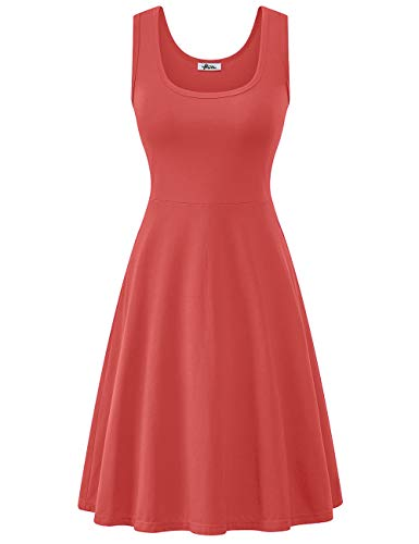 Herou Tank Summer Casual Dress for Party Deep See Coral -