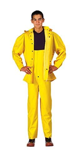 BlackC Sport Yellow Heavyweight 2 Piece PVC Deluxe Rainsuit ()
