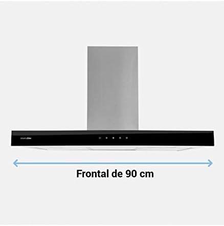 Universal Blue - Campana Decorativa de Cristal en T 90 cm - Eficiencia Energética A+ - Potencia 650m3/h - 3 velocidades: Amazon.es: Grandes electrodomésticos