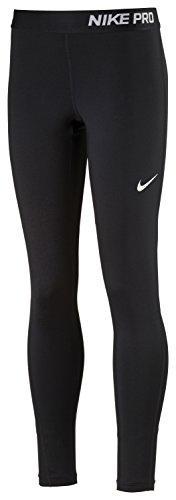 Nike Mädchen G NP Tights, Schwarz/Weiß, M