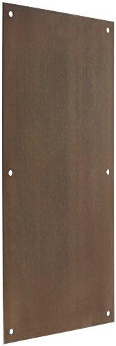 Rockwood 70F.10B Bronze Standard Push Plate, Four Beveled Edges, 16