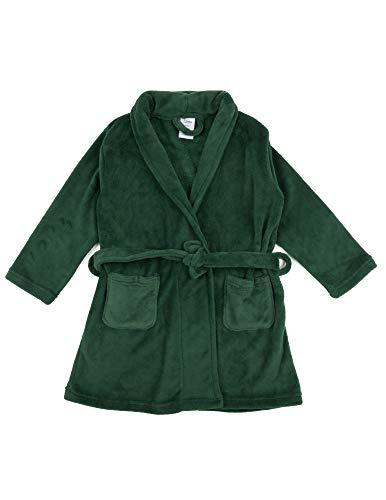 - Leveret Kids Robe Boys Girls Bathrobe Shawl Collar Fleece Sleep Robe Green Size 5 Years