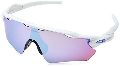 Oakley Men's OO9208 Radar EV Path Shield Sunglasses, Polished White/Prizm Snow Sapphire, 38 ()