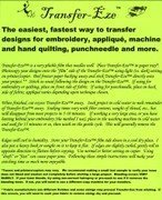 8 1//2 x 11 Sheets for Easy Applique Quilting and More. Punchneedle Transfer-Eze Transfer Paper Do-It-Yourself Transfers for Embroidery Fast 10pk