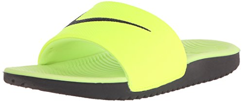 Nike Boys' Kawa Slide (GS/PS) Athletic Sandal, Volt, 1 M US Little Kid