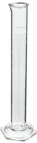 """Corning Pyrex 3025-100 Glass 100mL """"To Contain"""" Economy Graduated Double-Metric Calibrated Cylinder"""