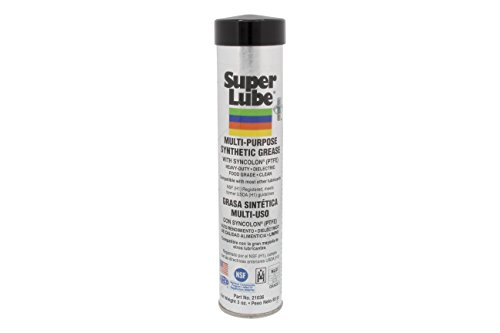Super Lube 21036 Synthetic Grease (NLGI 2), 3 oz Cartridge, Translucent White