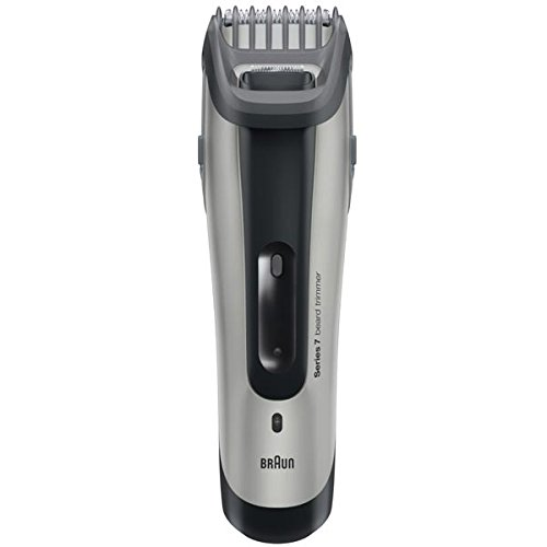 braun rechargeable hair beard trimmer with unique slide style system easy click lock combs. Black Bedroom Furniture Sets. Home Design Ideas
