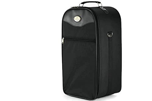 Extra Large Wig Travel Box with Top Handle, Shoulder Strap & Double Zipper, Carrying Case with Remov - http://coolthings.us