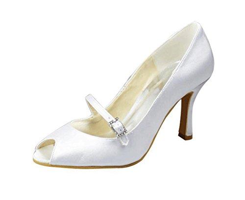 Boda Mz1233 Fiesta Formal Mary Sandalias Prom Jane Kevin Noche nbsp;ladies Beige Novia Fashion Satinado Marfil B0Sqwf