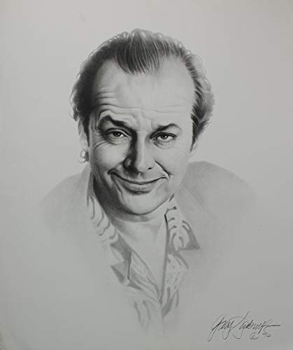 Gary Saderup Pencil Drawing Lithograph Of Jack Nicholson (1995)
