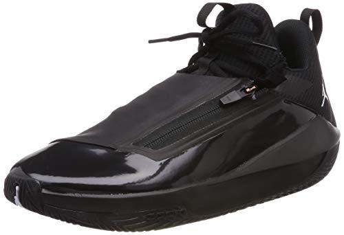 Nike Jordan Mens Jumpman Hustle Synthetic Mesh Black White Trainers 11 US