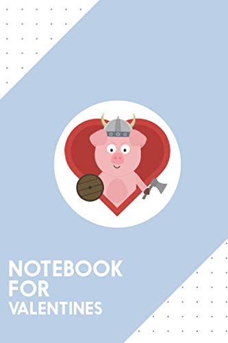 (Notebook for Valentines: Dotted Journal with Viking pig with heart Design - Cool Gift for a friend or family who loves romance presents! | 6x9