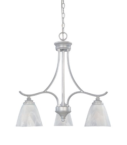 Designers Fountain 81983-MTP Matte Pewter Pratte In Chandelier, 22.75″ x 15.25″ x 22.75″ Review