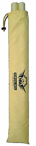 Martial Arts Armory Foam Padded Training Escrima Sticks with Case (Yellow)