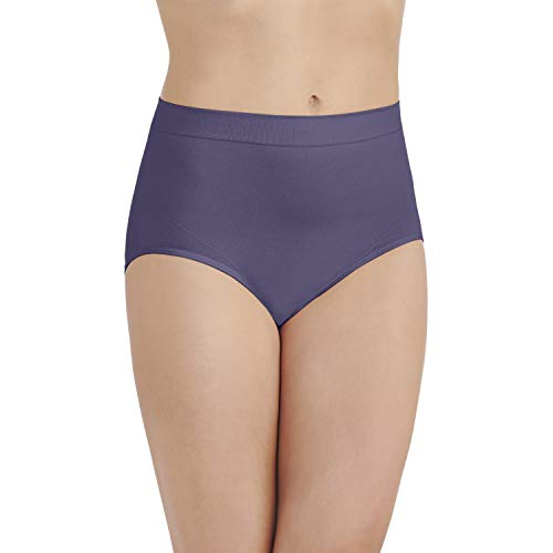 Vanity Fair Women's Smoothing Comfort Seamless Brief Panty 13264, Blue Charcoal, 2X-Large/9
