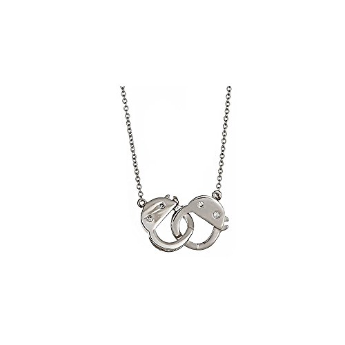 Sterling Handcuff (Sterling Forever 925 Sterling Silver & CZ Handcuff Necklace)