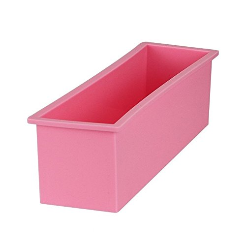 Loaf Pan Baking Bread and Large Cakes L Rectangle Brick Soap Pastry Toast Bread Loaf Cake Non Stick Silicone Mold Bakeware 1.2L 26cm x 7cm x 7.8cm 1 Pcs