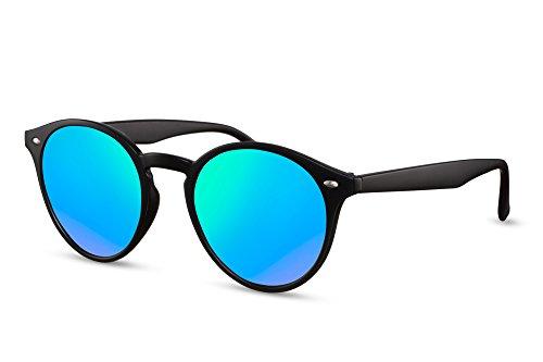 Femmes Noir Hommes Noir Brun Sunglasses Lunettes Ca Miroitant Rétro Connaisseur Rondes Cheapass 016 8B1Un