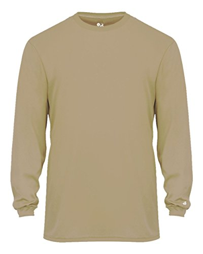 Vegas Gold Adult Large Long Sleeve Performance Wicking Athletic Sports (Cooperstown Long Sleeve)
