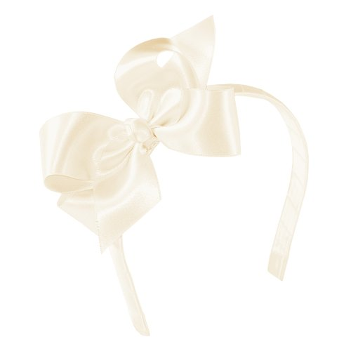 (Wee Ones Baby Girls' Medium Satin Hair Bow w/Knot Wrap on Matching 1/2