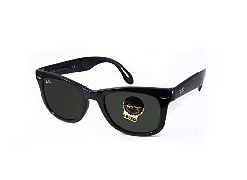 Ray-Ban Wayfarer Folding Classic Unisex sunglasses RB4105-601 Black E50B22T140 M - Ban Wayfarer 4105 Folding Ray