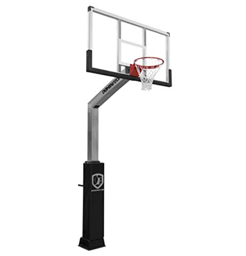 DOMINATOR Goal Adjustable Height Aluminum In Ground Basketball Hoop with 72