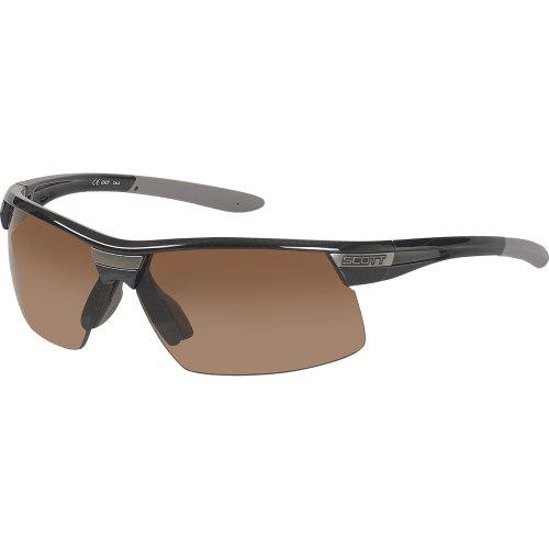 Scott USA Sprint Sunglass (Black Metal Frame with Brown OptiView - Coast West Customs Sunglasses