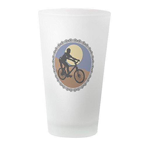(CafePress Mountain Bike Chain Design Pint Glass Pint Glass, 16 oz. Drinking Glass)