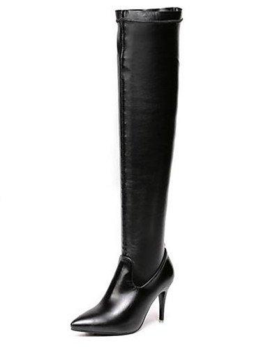XZZ  Damenschuhe - Stiefel - - - Lässig - Kunstleder - Stöckelabsatz - Spitzschuh - Schwarz 4e33b4
