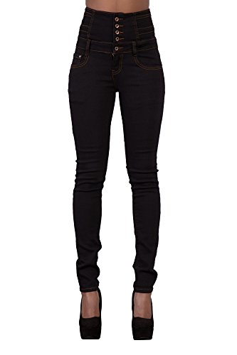 Jeans Donna Lustychic Jeans Lustychic Black Black Donna RUUxF65q