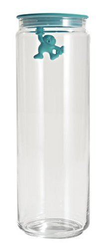 A di Alessi Gianni 8-1/2-Cup Glass Jar, Aqua ()
