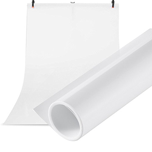 Selens 100X200CM 40X80INCH Photography Backdrop Paper Matte PVC Vinyl Seamless Background White]()